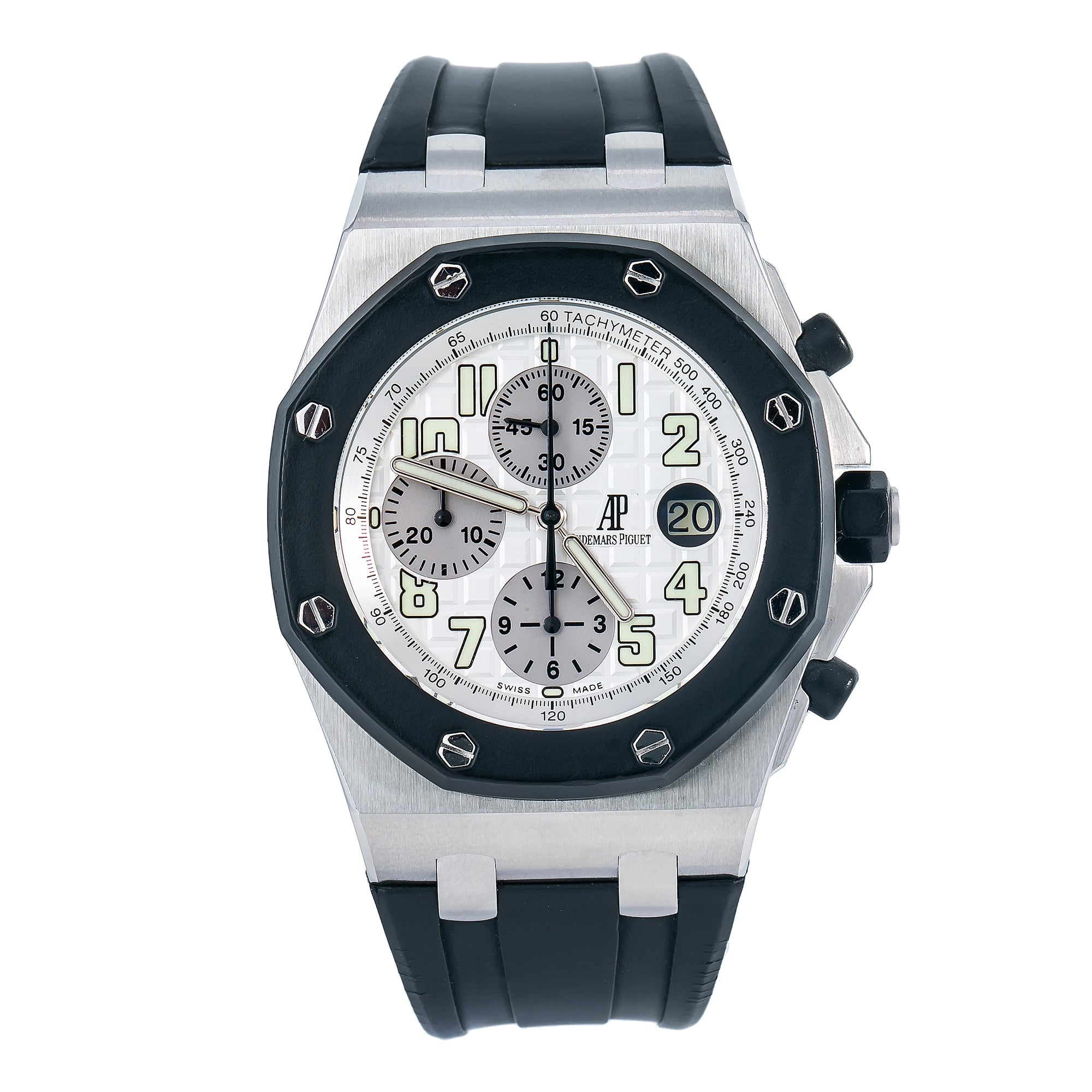 Audemars Piguet Royal Oak Offshore Chronograph 25940SK 42MM White Dial With Rubber Bracelet