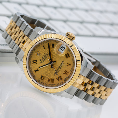 Rolex Lady-Datejust 178273 31MM Champagne Dial With Two Tone Jubilee Bracelet