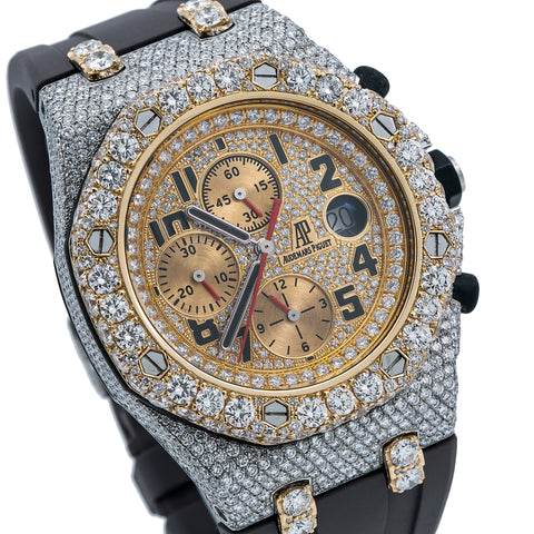 Audemars Piguet Royal Oak Offshore Chronograph 26170ST 42MM Champagne Diamond Dial With 15.75 CT Diamonds