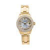 Rolex Oyster Perpetual Lady Date 6916 26MM White Diamond Dial With 1.80 CT