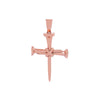 Unisex 14K Rose Gold Cross Pendant