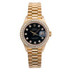 Rolex Datejust 26MM Black Diamond Dial With Yellow Gold Bracelet
