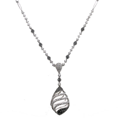 "18K White Gold 18"" Women's Necklace With 1.97 CT Diamonds"
