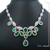 "18K White Gold BN3789P 20"" Emerald Women's Necklace 27.10 CT Diamonds"