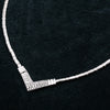 "14K White Gold 18"" Women's Necklace 1.50 CT Diamonds"