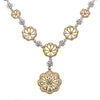 "18K Yellow and White Gold 20"" Women's Necklace With 6.27 CT Diamonds"