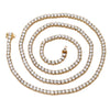 14K Yellow Gold Men's Tennis Chain With 21.57 CT Diamonds