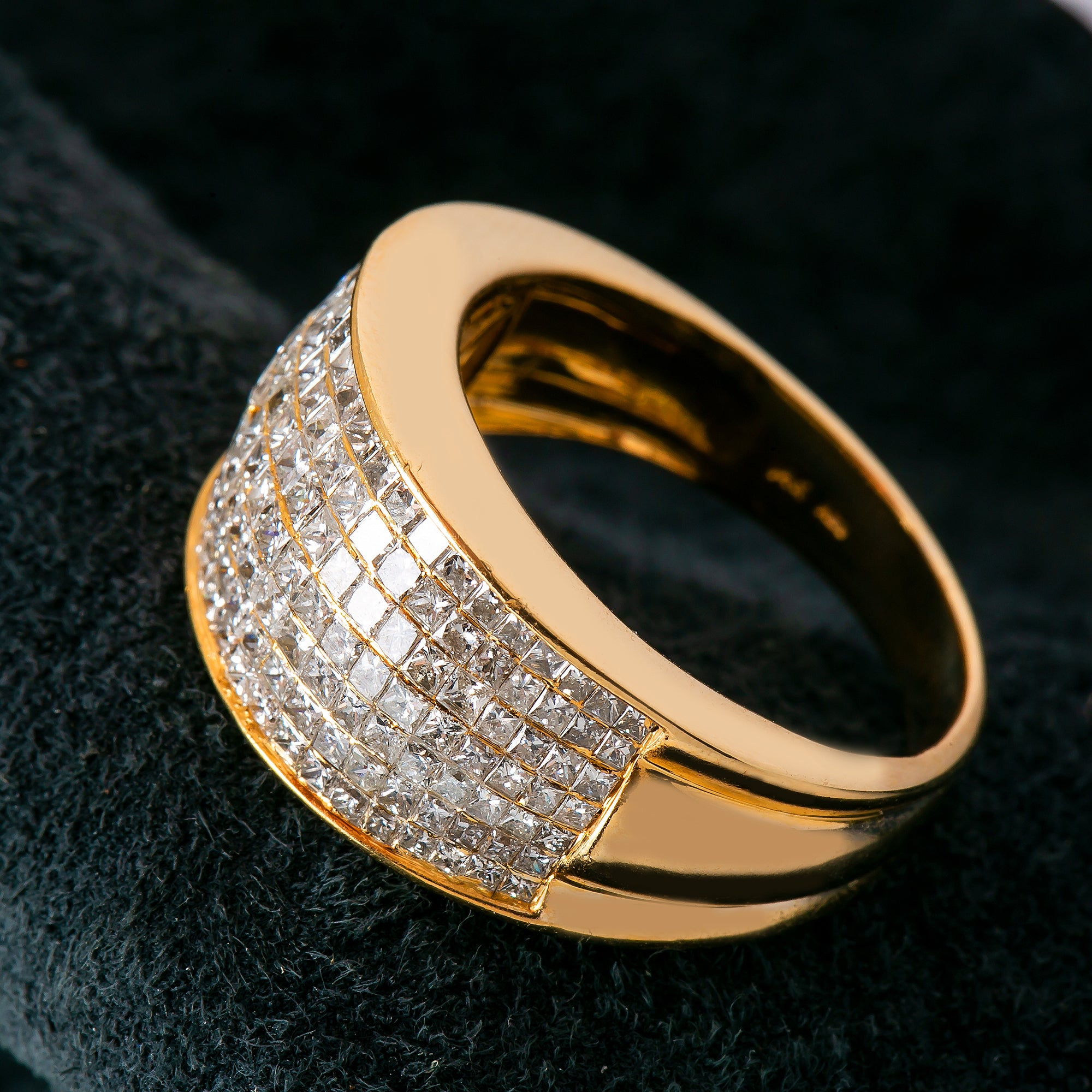 14K YELLOW GOLD MEN'S RING WITH 2.00 CT DIAMONDS