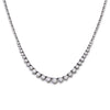 "14K WHITE GOLD 17"" TENNIS CHAIN WITH 15.25 CT DIAMONDS"