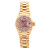 Rolex Oyster Perpetual Lady Date 6517 26MM Pink Diamond Dial With Yellow Gold Bracelet