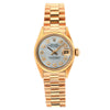 Rolex Oyster Perpetual Lady Date 26MM White Mother of Pearl Diamond Dial With Yellow Gold Bracelet