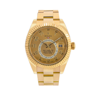 Rolex Sky-Dweller 326938 42MM Champagne Dial With Yellow Gold Oyster Bracelet