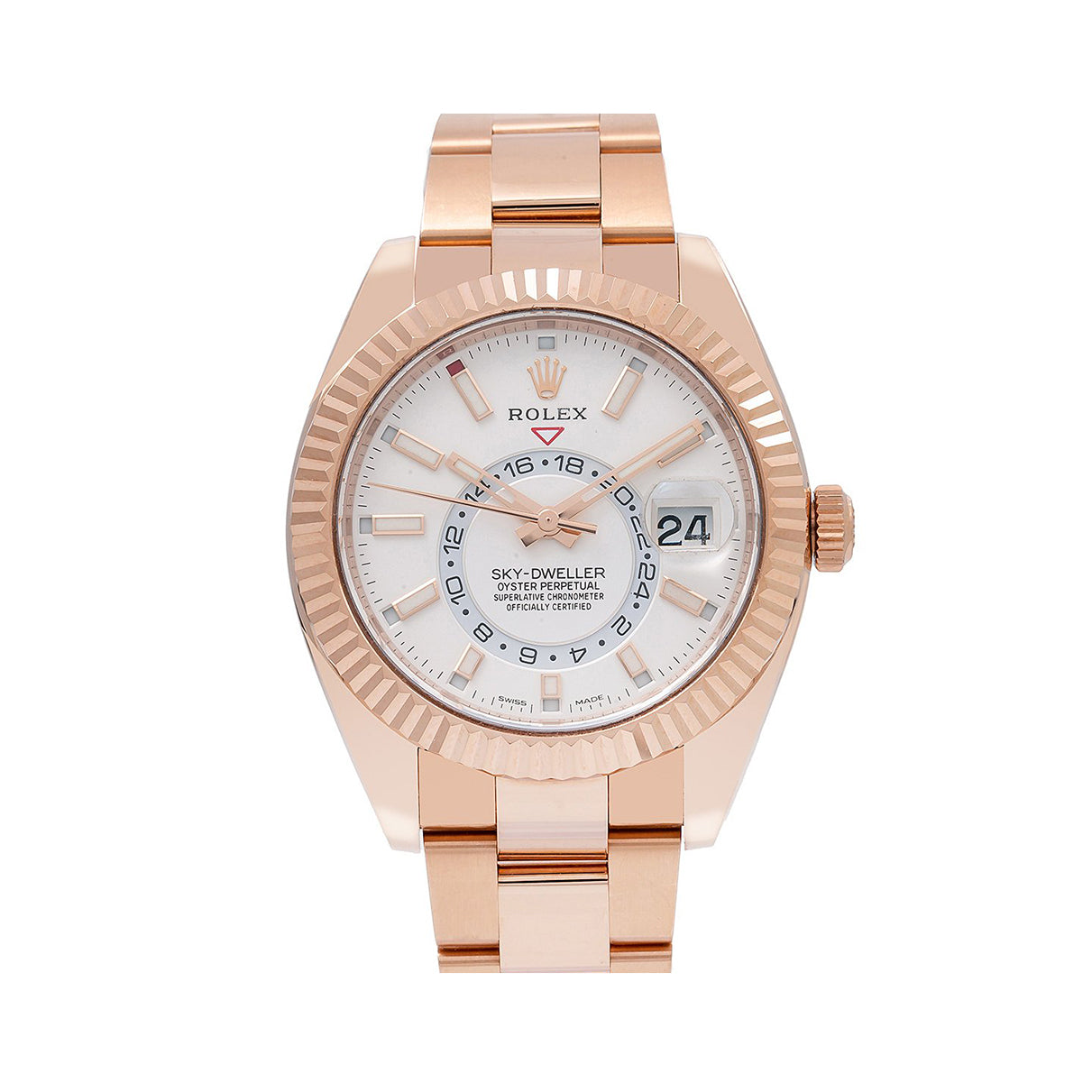 Rolex Sky-Dweller 326935 42MM White Dial With Rose Gold Oyster Bracelet