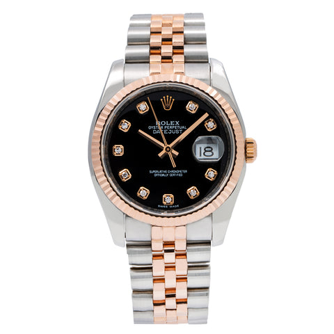 Rolex Datejust 116231 36MM Black Dial With Two Tone Jubilee Bracelet