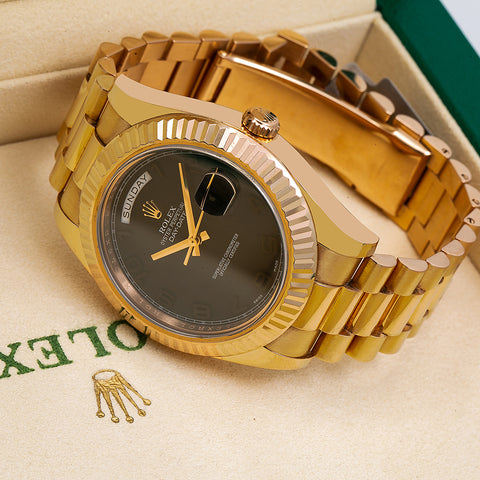 Rolex Day-Date II 218235 40MM Gray Dial With Yellow Gold President Bracelet