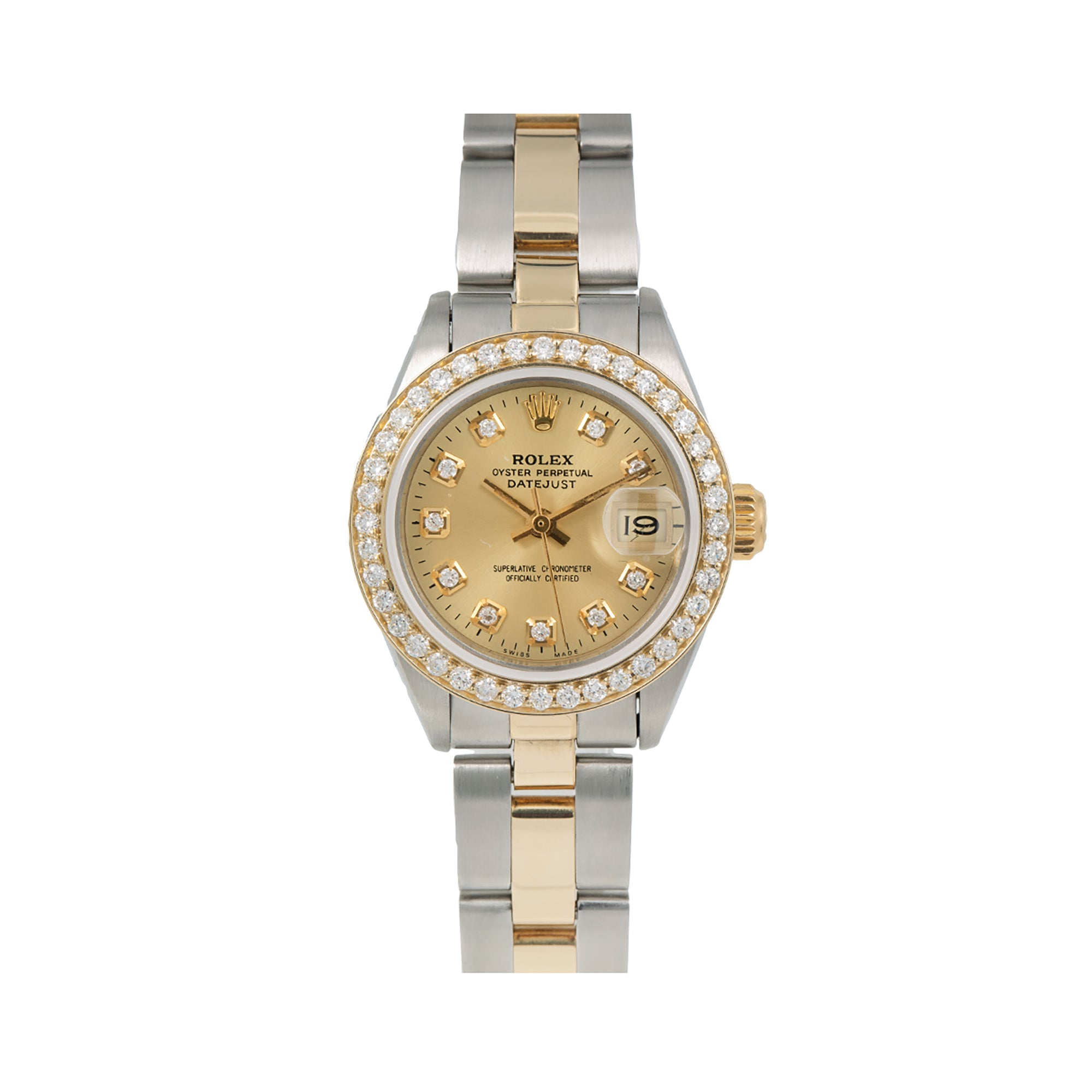 Rolex Lady-Datejust 6917 26MM Champagne Diamond Dial With  0.90 CT Diamonds