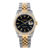 Rolex Datejust 16233 36MM Black Dial With Two Tone Jubilee Bracelet