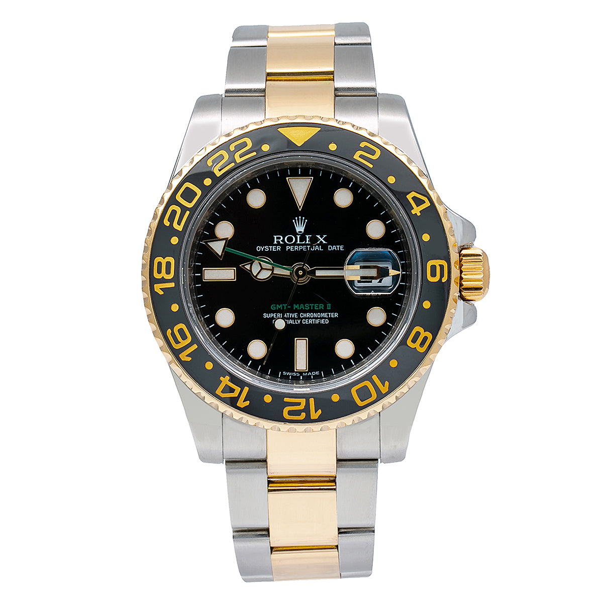 Rolex GMT-Master II 116713 40MM Black Dial With Two Tone Oyster Bracelet
