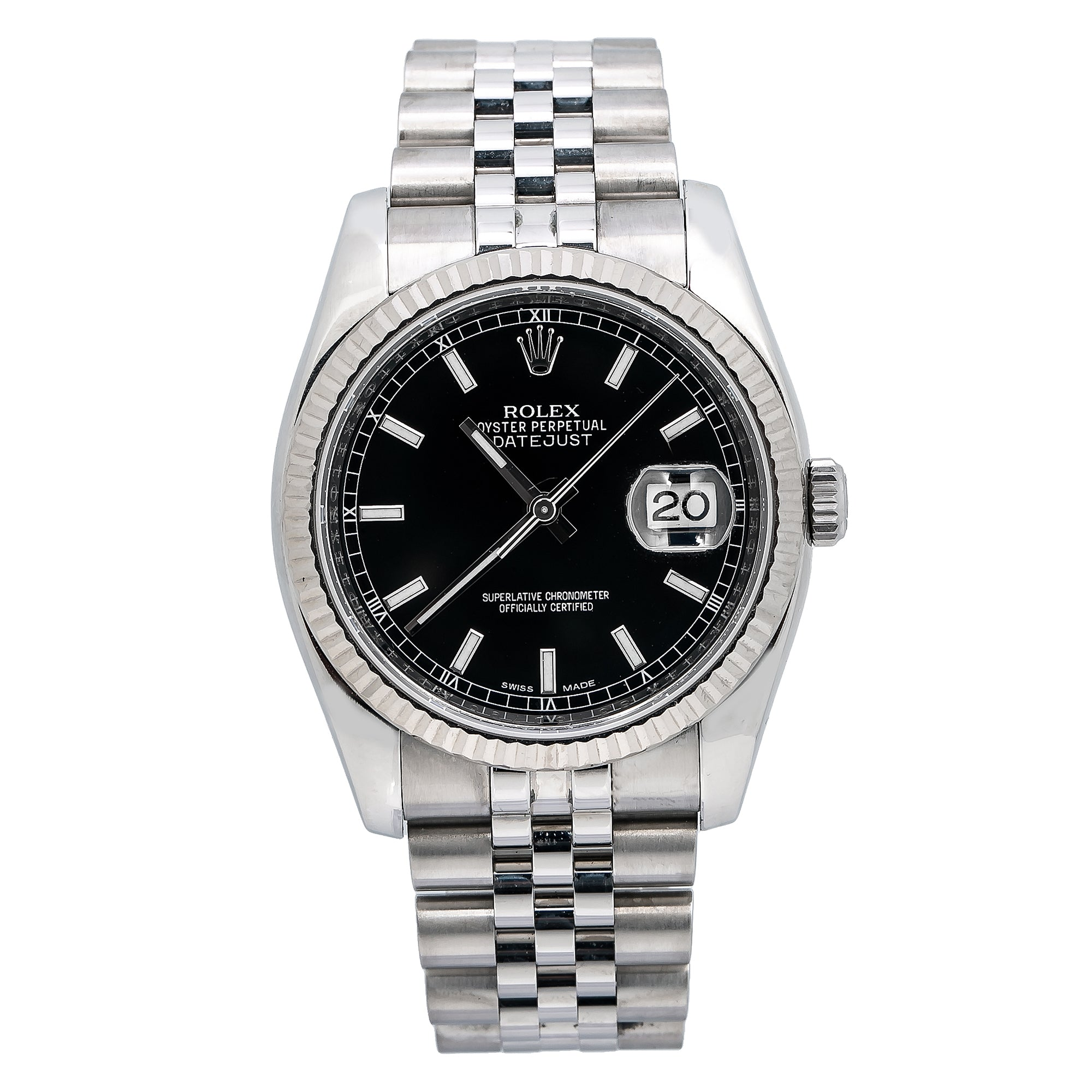 Rolex Datejust 116234 36MM Black Dial With Stainless Steel Bracelet