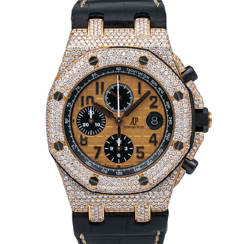 Audemars Piguet Royal Oak Offshore Chronograph 26470OR 44MM Brown Dial With 8.75 CT Diamonds