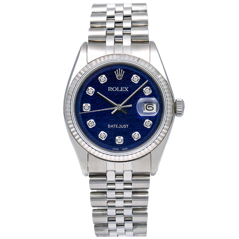 Rolex Datejust 1601 36MM Blue Dial With Stainless Steel Jubilee Bracelet