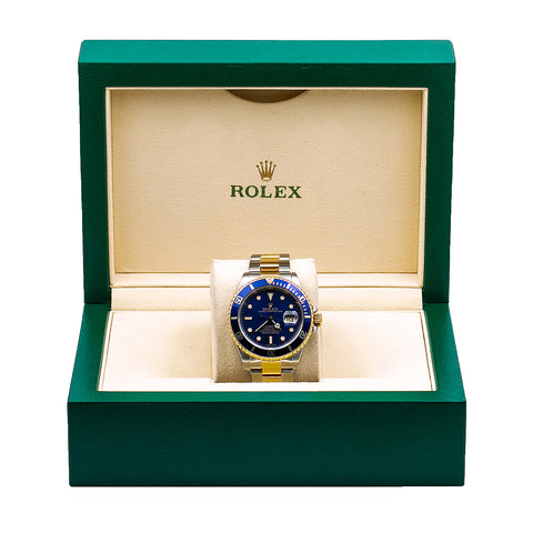 Rolex Submariner Date 16613 40MM Blue Dial With Two Tone Oyster Bracelet