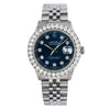 Rolex Datejust 16234 36MM Blue Diamond Dial With Stainless Steel Jubilee Bracelet
