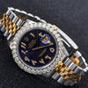 Rolex Datejust 16103 36MM Blue Diamond Dial With Two Tone Jubilee Bracelet