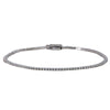 14K WHITE GOLD UNISEX BRACELET WITH 1.17 CT  DIAMONDS
