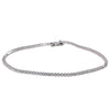14K WHITE GOLD UNISEX BRACELET WITH 1.03 CT  DIAMONDS