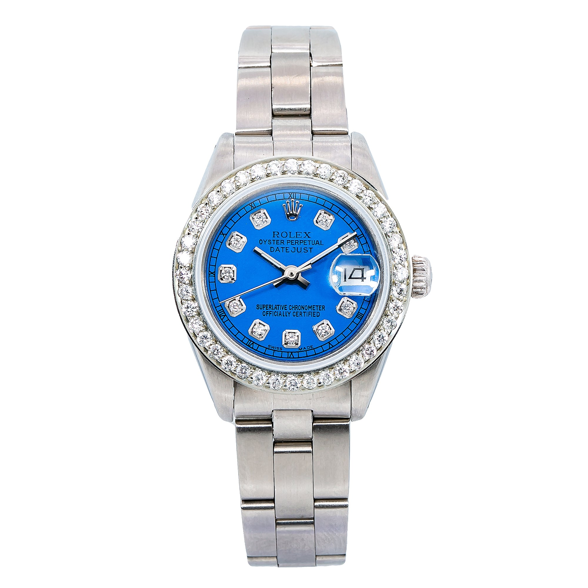 Rolex Lady-Datejust 6917 26MM Blue Diamond Dial With Stainless Steel Oyster Bracelet