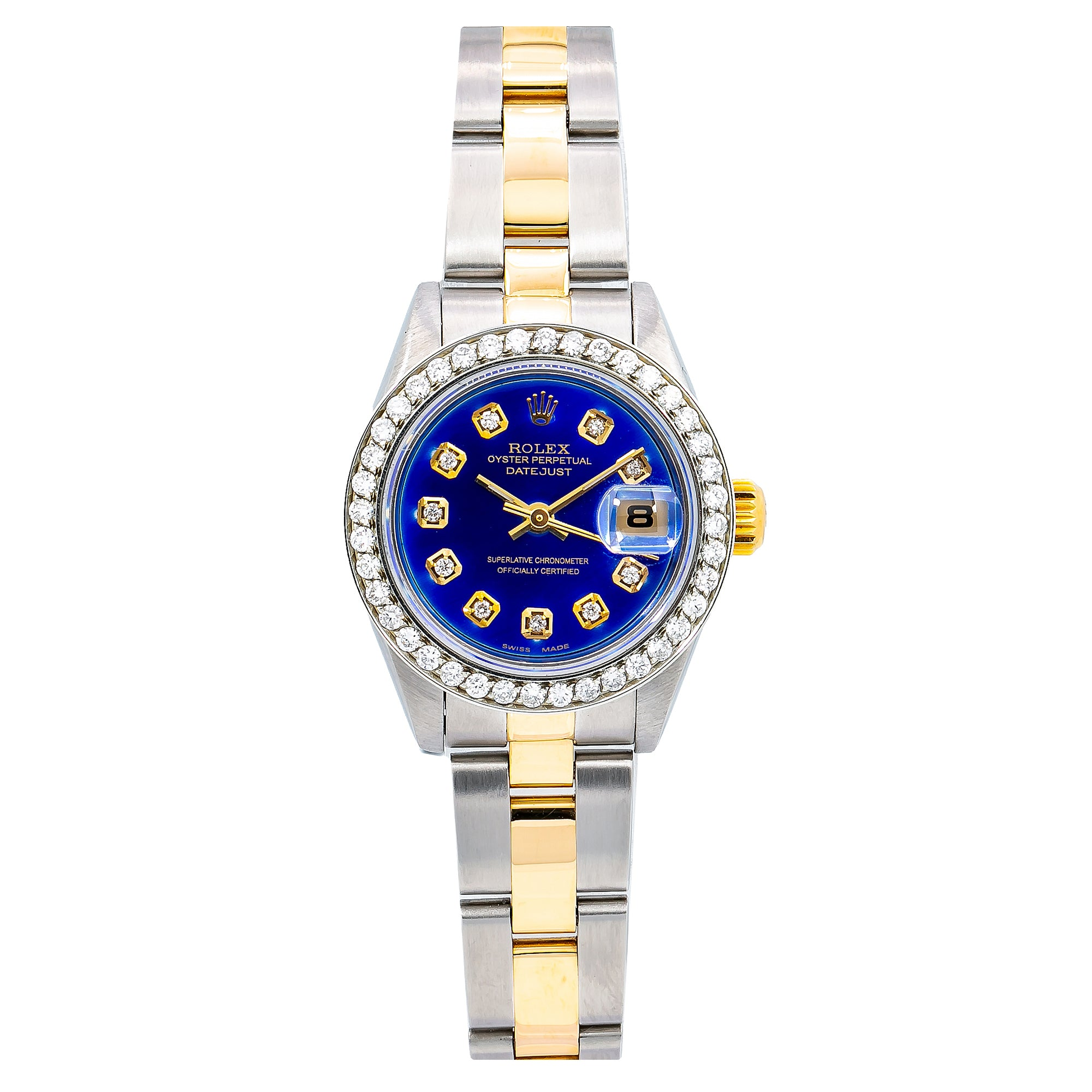Rolex Lady-Datejust 79173 26MM Blue Diamond Dial With Two Tone Oyster Bracelet