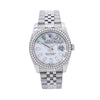 Rolex Datejust Diamond Watch, 116200 36mm, Silver Diamond Dial With 1.75 CT Diamonds
