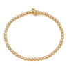 14K YELLOW GOLD LADIES BRACELET WITH 2.20 CT DIAMONDS