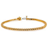14K YELLOW GOLD LADIES BRACELET WITH 2.65 CT DIAMONDS