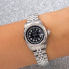 Rolex Lady-Datejust 69174 26MM Black Diamond Dial With Stainless Steel Jubilee Bracelet