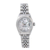 Rolex Oyster Perpetual Lady Date 69240 26MM Silver Diamond Dial With Stainless Steel Jubilee Bracelet