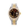 Rolex Datejust Diamond Watch, 16013 36mm, Brown Diamond Dial With 3.75 CT Diamonds
