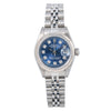 Rolex Lady-Datejust 69174 26MM Blue Diamond Dial With Stainless Steel Jubilee Bracelet