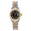 Rolex Lady-Datejust 69173 26MM Black Diamond Dial With Two Tone Jubilee Bracelet