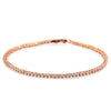 14K ROSE GOLD LADIES BRACELET WITH 1.5 CT DIAMONDS