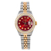 Rolex Lady-Datejust 69173 26MM Red Diamond Dial With Two Tone Jubilee Bracelet