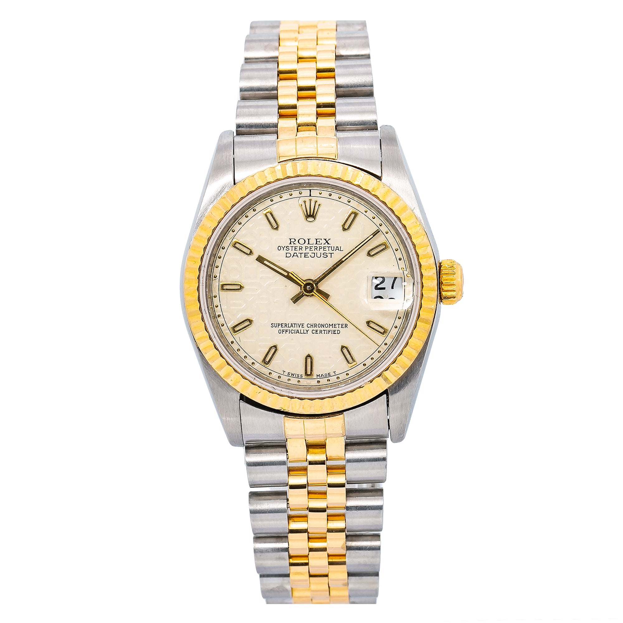 Rolex Lady-Datejust 68273 31MM Champagne Dial With Two Tone Jubilee Bracelet
