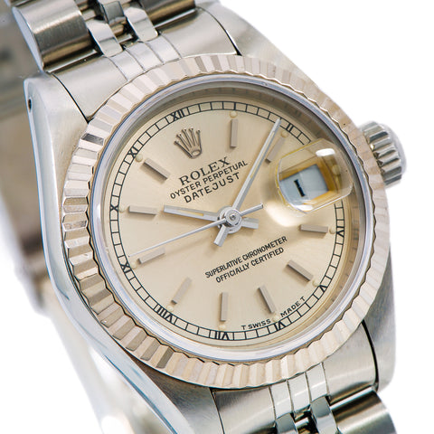 Rolex Lady-Datejust 69174 26MM Silver Dial With Stainless Steel Jubilee Bracelet