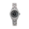 Rolex Lady-Datejust Diamond Watch, 6917 26mm, Black Diamond Dial With 3.75 CT Diamonds