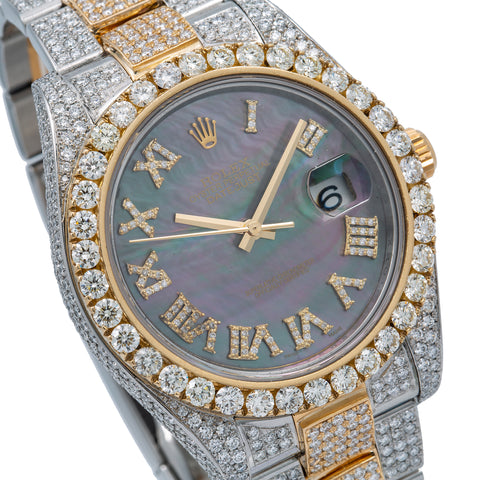 Rolex Datejust Diamond Watch, 126333 41mm, Mother of Pearl Diamond Dial With 18.75 CT Diamonds