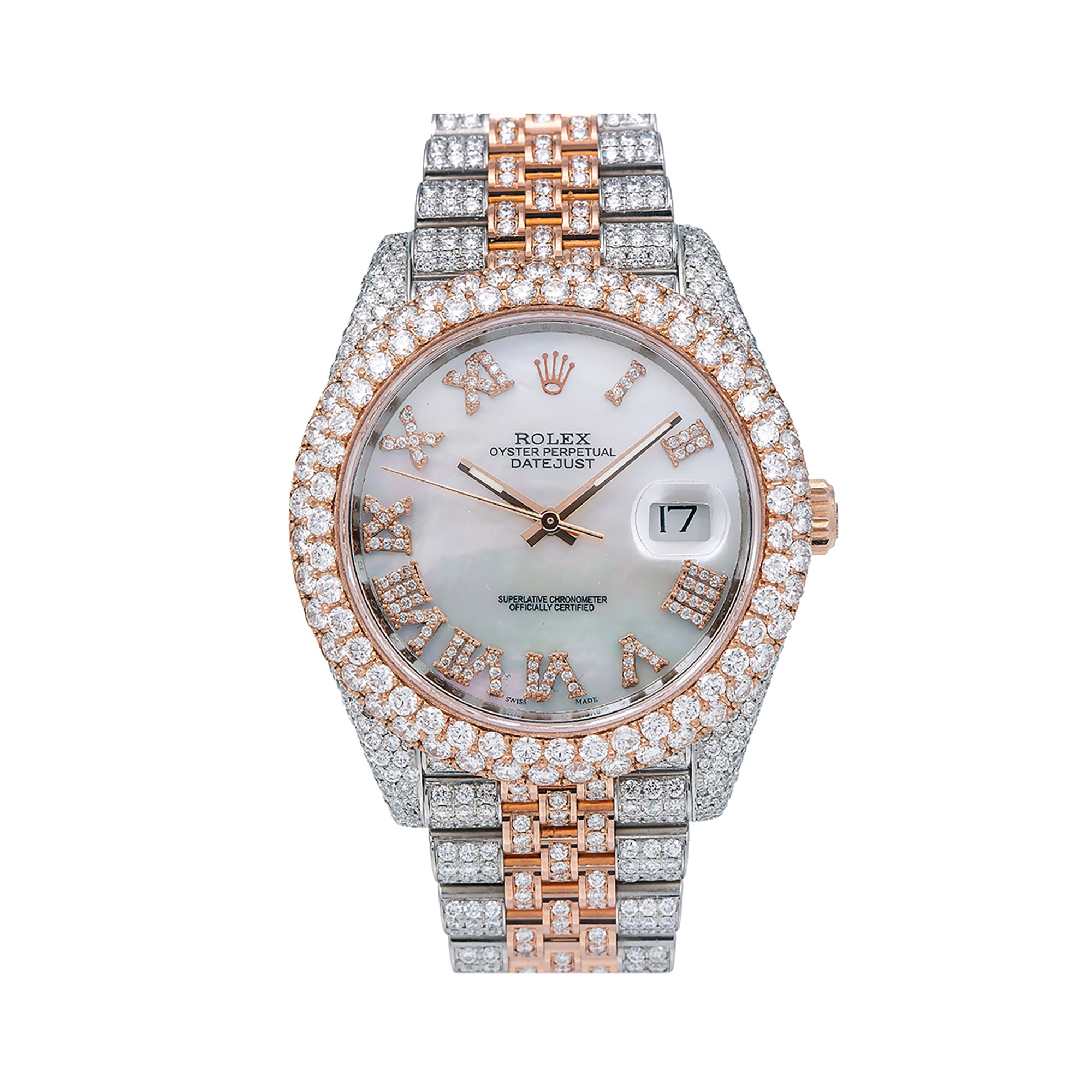 Rolex Datejust II 126331 41MM White Mother of Pearl Diamond Dial With 19.25 CT Diamonds