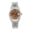 Rolex Lady-Datejust 68274 31MM Brown Diamond Dial With Stainless Steel Jubilee Bracelet