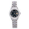 Rolex Datejust 26MM Black Dial With Stainless Steel Jubilee Diamond Bracelet