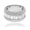18K White Gold Ladies Ring with 3.11 CT Diamonds